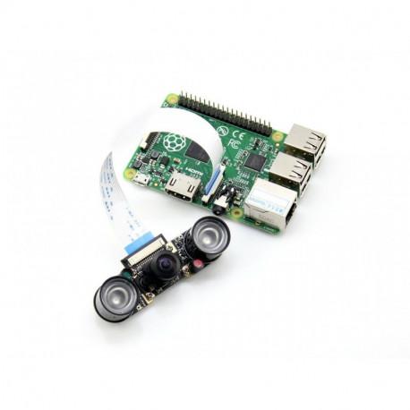Широкоугольная камера Raspberry Pi с поддержкой ночного видения от Waveshare