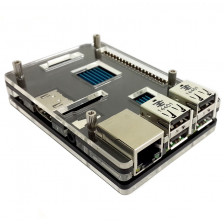 Наборной черный корпус для Raspberry Pi 2 B+