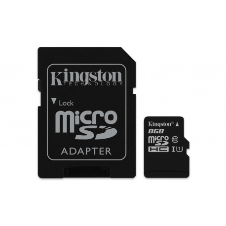 Карта памяти MicroSD Kingston 8GB 10 class