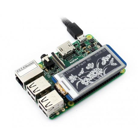 "Дисплей E-Ink HAT 2.13"" для Raspberry Pi"