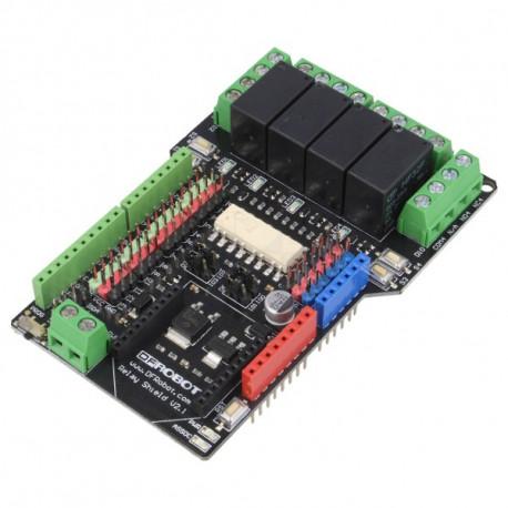 4х-канальный реле шилд для Arduino от DFRobot