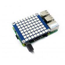 Плата расширения RGB LED HAT 8x8 для Raspberry Pi