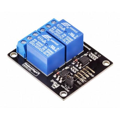 2-канальный модуль реле 5V RobotDyn