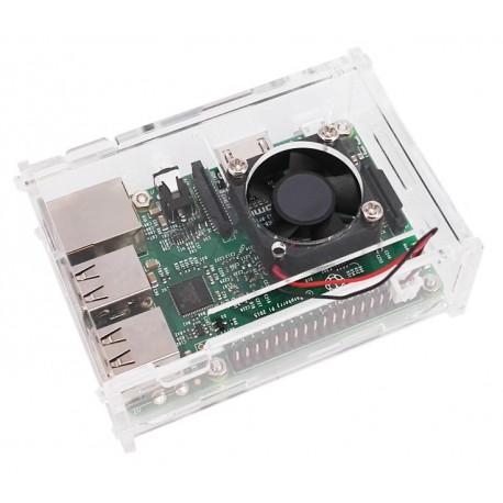 Акриловый корпус для Raspberry Pi с активным охлаждением