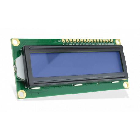 Дисплей LCD1602 3.3V (Blue / Yellow Backlight)