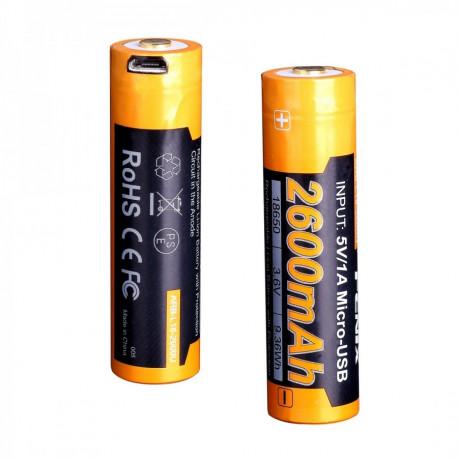 Аккумулятор 18650 Fenix 2600mAh с USB