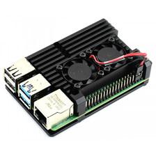 Алюминиевый корпус с кулером для Raspberry Pi 4